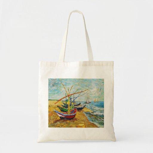 Van Gogh Fishing Boats Tote Bag