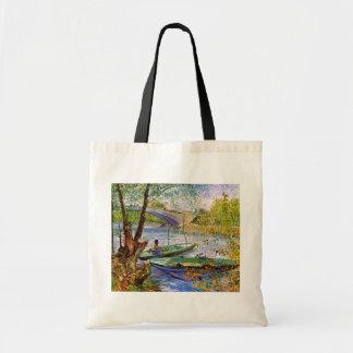 Van Gogh - Fishing In Spring Budget Tote Bag