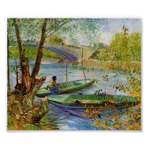 Van Gogh - Fishing in the Spring Poster