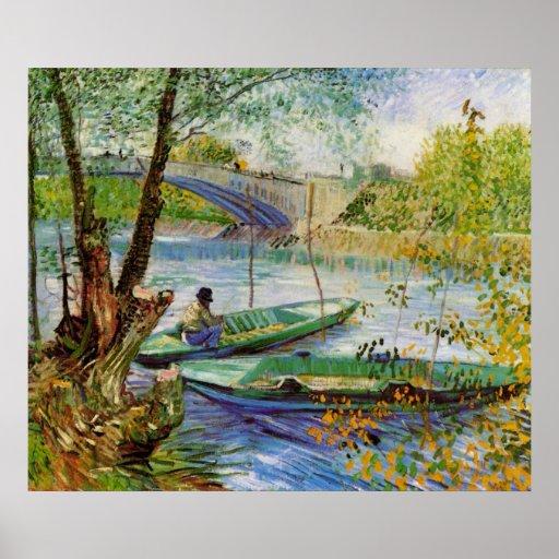 Van Gogh Fishing in the Spring, Vintage Fine Art Posters