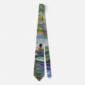 Van Gogh Fishing in the Spring, Vintage Fine Art Tie