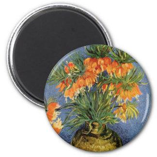 Van Gogh flower painting Refrigerator Magnets