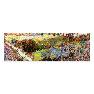 Van Gogh Flowering Garden At Arles Floral Fine Art Pack Of Skinny Business Cards