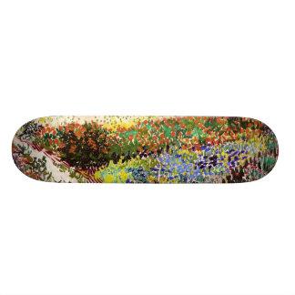 Van Gogh Flowering Garden At Arles Floral Fine Art Skateboard Deck