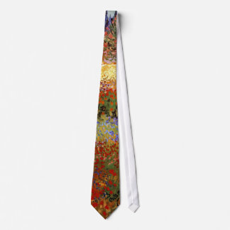 Van Gogh Flowering Garden (F430) Fine Art Tie