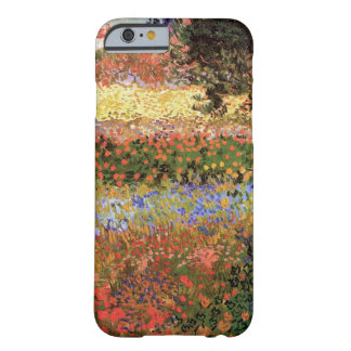 Van Gogh Flowering Garden, Vintage Floral Fine Art Barely There iPhone 6 Case