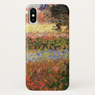 Van Gogh Flowering Garden, Vintage Floral Fine Art iPhone X Case