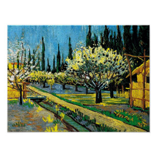 van gogh - Flowering Orchard Poster