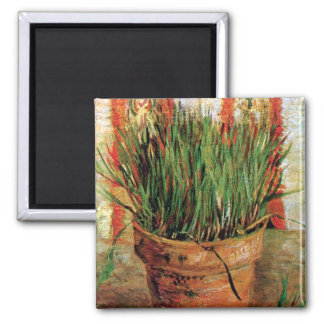 Van Gogh - Flowerpot With Chives Magnets