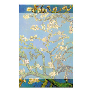 Van Gogh Flowers Art, Blossoming Almond Tree Personalized Stationery