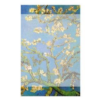 Van Gogh Flowers Art, Blossoming Almond Tree Custom Stationery