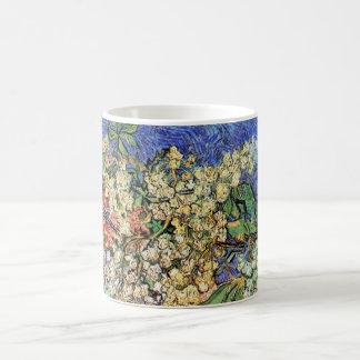 Van Gogh Flowers Art, Blossoming Chestnut Branches Basic White Mug