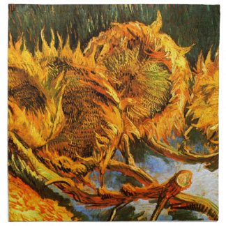 Van Gogh: Four Sunflowers Napkin