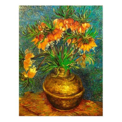 Van Gogh Fritillaries Copper Vase (F213) Fine Art Post Cards