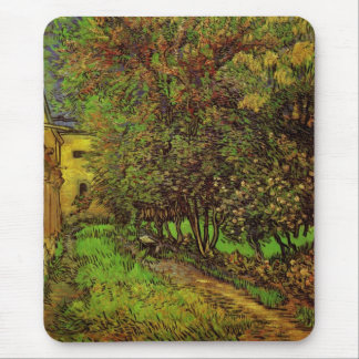 Van Gogh Garden of Saint Paul Hospital, Fine Art Mouse Pad