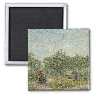 Van Gogh, Garden with lovers, Paris Fridge Magnet