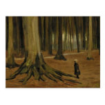 Van Gogh Girl in the Woods (F8a) Fine Art Post Card