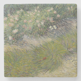 Van Gogh , Grass and butterflies Stone Beverage Coaster