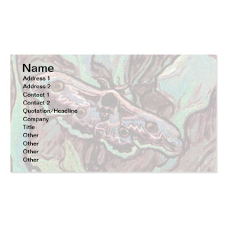 Van Gogh - Great Peacock Moth Business Card