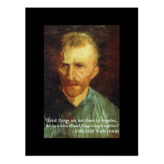 Van Gogh 'Great Things' quote postcard