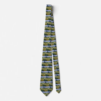 Van Gogh Green Wheat Field with Cypress, Fine Art Tie