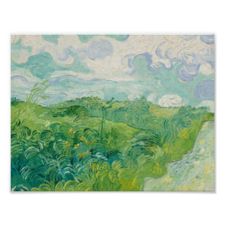 Van Gogh - Green Wheat Fields, Auvers 1890 Poster