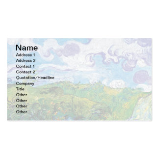 Van Gogh - Green Wheat Fields In Auvers Business Card Templates