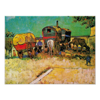 Van Gogh - Gypsy Camp with Horse Dray Poster