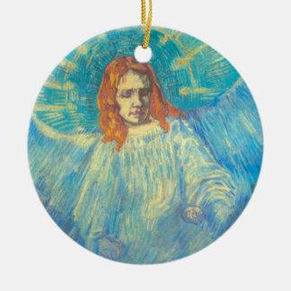 Van Gogh; Half Figure of an Angel, Vintage Art Round Ceramic Decoration