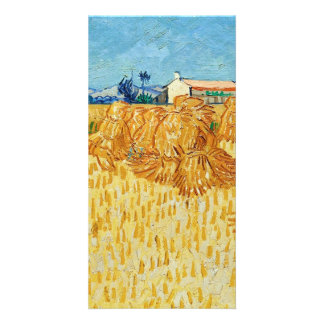 Van Gogh; Harvest in Provence Photo Card Template