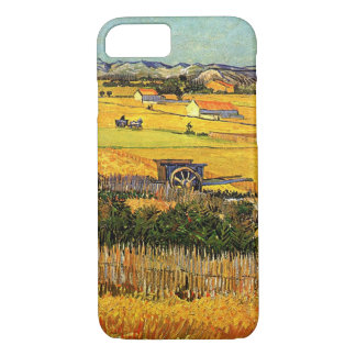 Van Gogh Harvest La Crau, Montmajour, Fine Art iPhone 7 Case