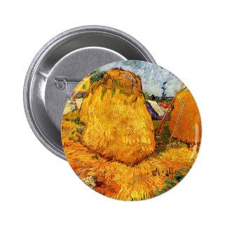 Van Gogh Haystacks in Provence, Vintage Farm Art Pin