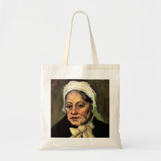 Van Gogh, Head of Old Woman, White Cap (Midwife) Tote Bag