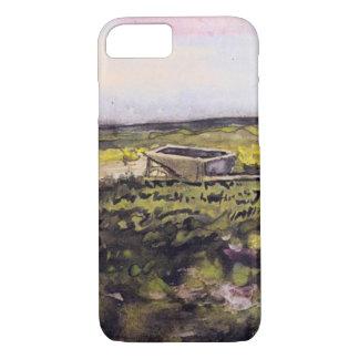 Van Gogh Heath with Wheelbarrow, Vintage Fine Art iPhone 7 Case