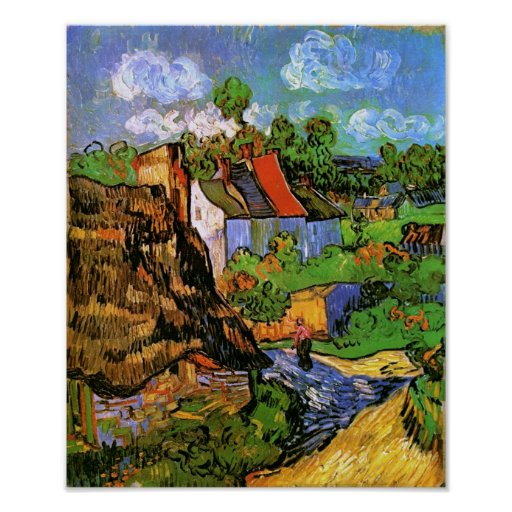 Van Gogh Houses in Auvers (F805) Fine Art Posters