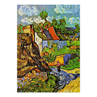 Van Gogh - Houses in Auvers Poster