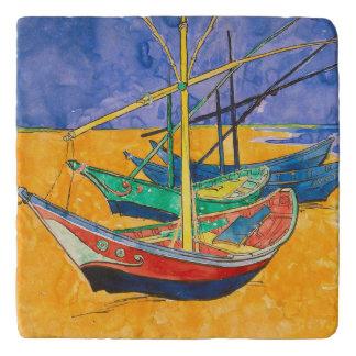 Van Gogh Impressionist Boats Trivet