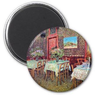 Van Gogh - Interior Of A Restaurant 6 Cm Round Magnet