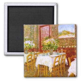 Van Gogh: Interior of a Restaurant Square Magnet