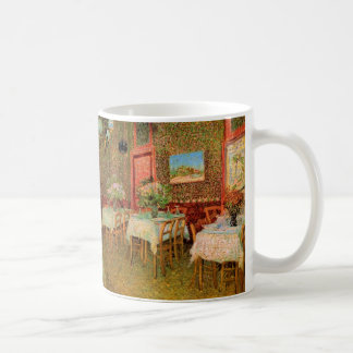 Van Gogh; Interior of a Restaurant, Vintage Art Basic White Mug