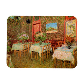 Van Gogh; Interior of a Restaurant, Vintage Art Rectangular Photo Magnet