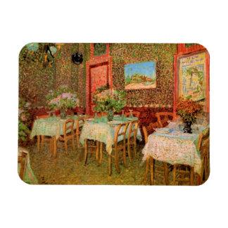 Van Gogh Interior of Restaurant, Vintage Fine Art Rectangular Photo Magnet