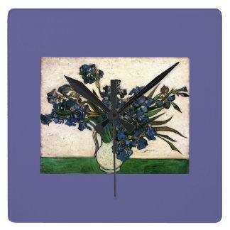 Van Gogh Iris Lavendar Clock