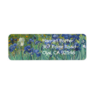 Van Gogh Irises (F608) Fine Art Return Address Label