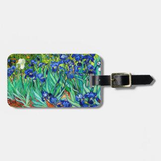 Van Gogh Irises (F608) Vintage Fine Art Bag Tag