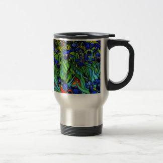 Van Gogh - Irises, famous painting by Van Gogh Stainless Steel Travel Mug