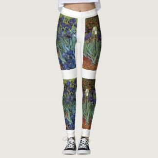 Van Gogh Irises Fine Art Leggings Pants