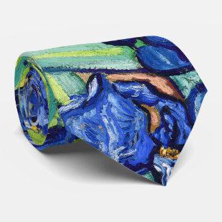 Van Gogh Irises Impressionism Floral Tie