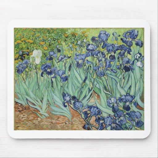 Van Gogh Irises Mouse Pad