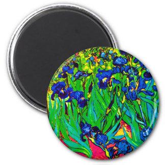 Van Gogh Irises - Pop Art Version Fridge Magnets